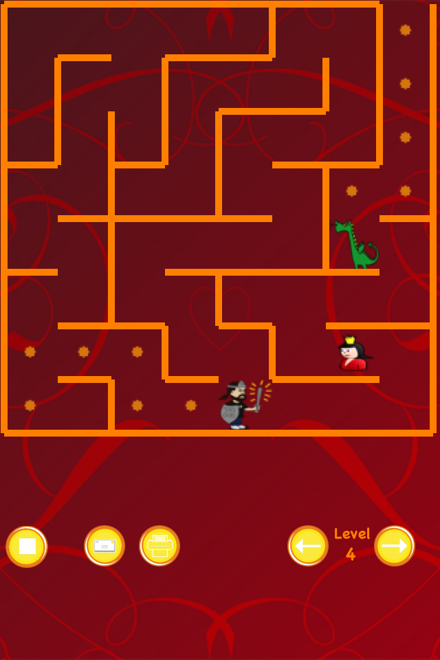 Screenshot Dragon and Knight Maze (save the princess)