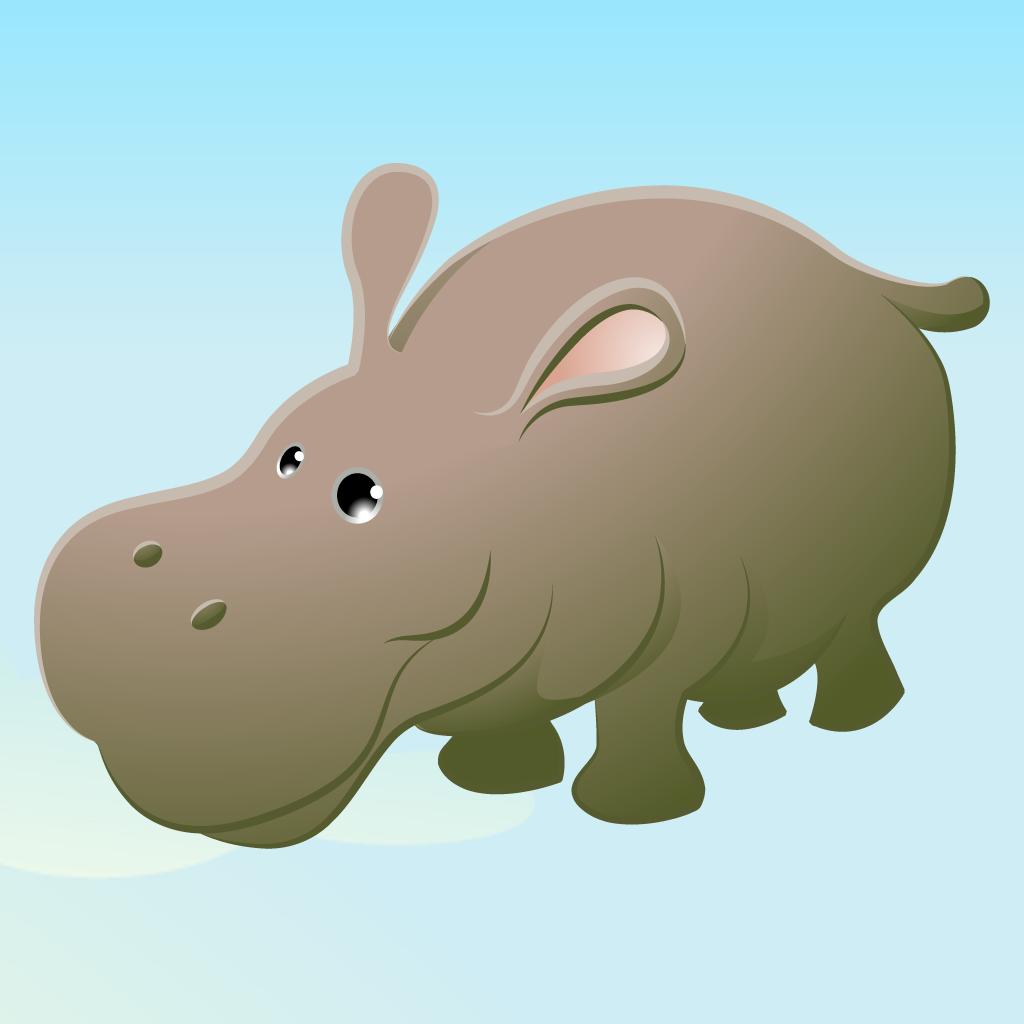 儿童游戏2-5岁左右的野生动物园的动物:游戏和拼图的